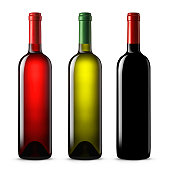 Quality wine bottles. Red,white and rose wine.