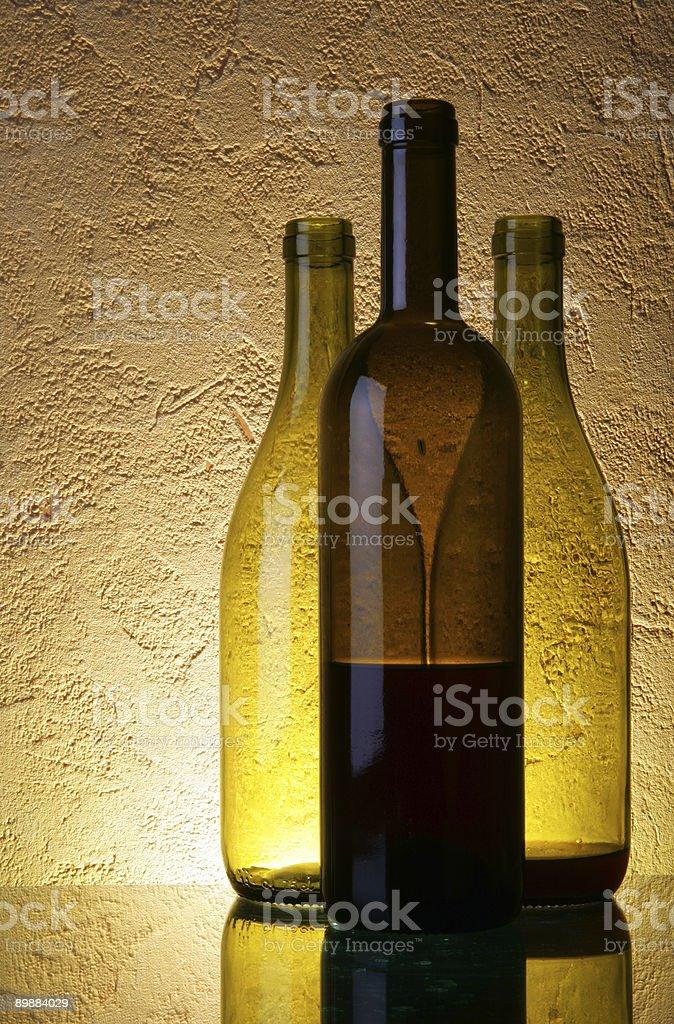 Three wine bottles royalty-free stock photo