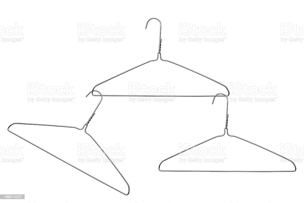 Three Wire Coat Hangers stock photo 466214221   iStock