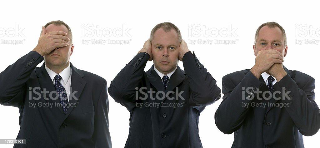 Three Wise Businessmen royalty-free stock photo