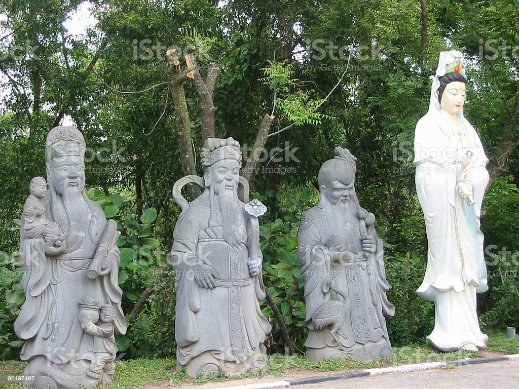 three wise men and the lady of fortune royalty-free stock photo