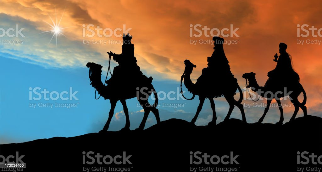 Three Wise Men (Photographed Silhouette) royalty-free stock photo