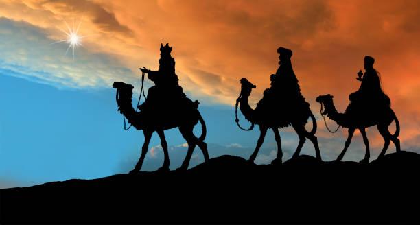 três reis magos (fotografada silhueta - reis magos imagens e fotografias de stock