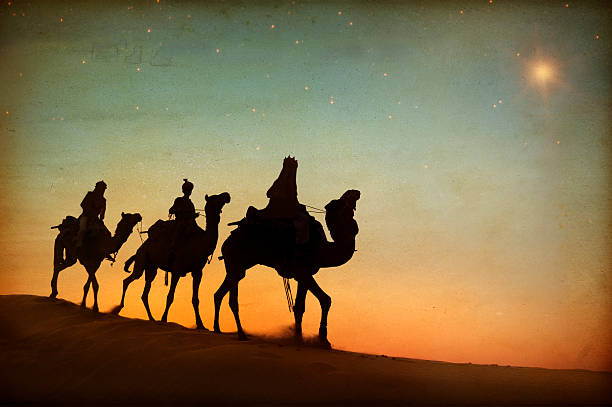three wise men - nativity scene stock pictures, royalty-free photos & images