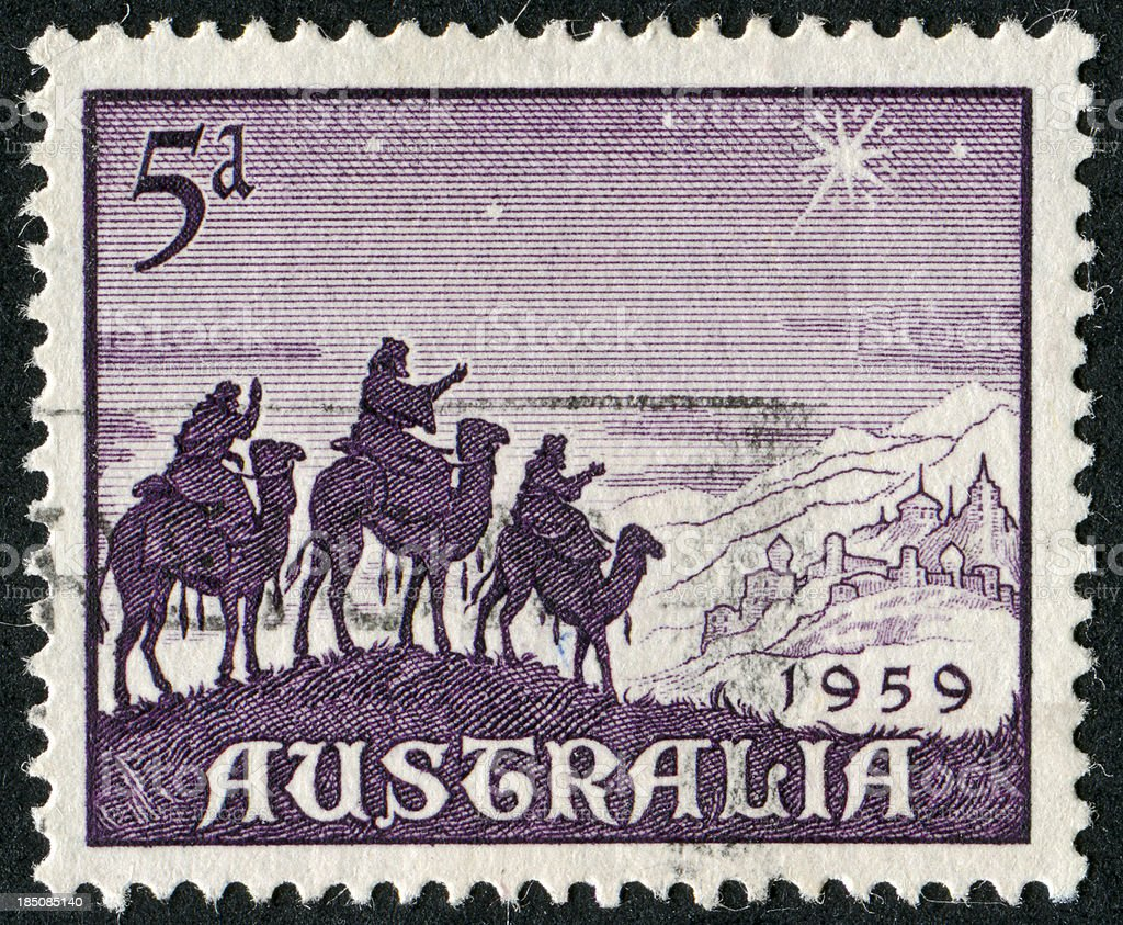 Three Wise Men Stamp stock photo