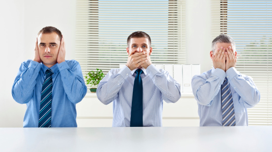 Three Wise Monkey Business Concept Stock Photo - Download Image Now