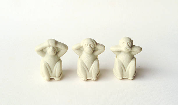 Three Wise Monkeys See no evil, hear no evil, speak no evil hear no evil stock pictures, royalty-free photos & images