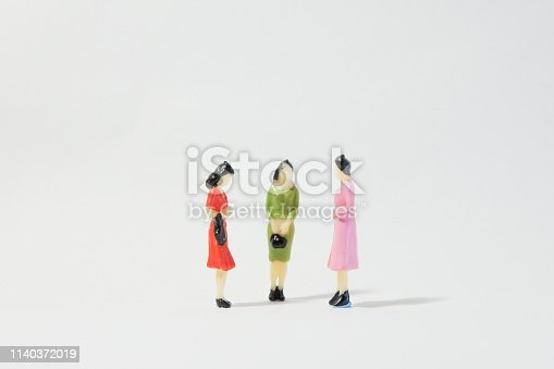 Three women having a conversation