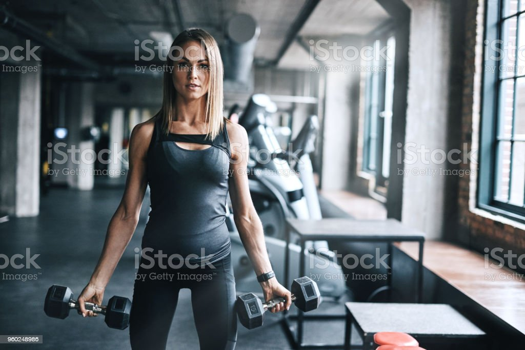 """Three words you'll never hear her say, """"I give up"""" stock photo"""