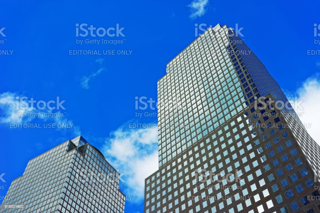 Three World Financial Center in Financial District US stock photo