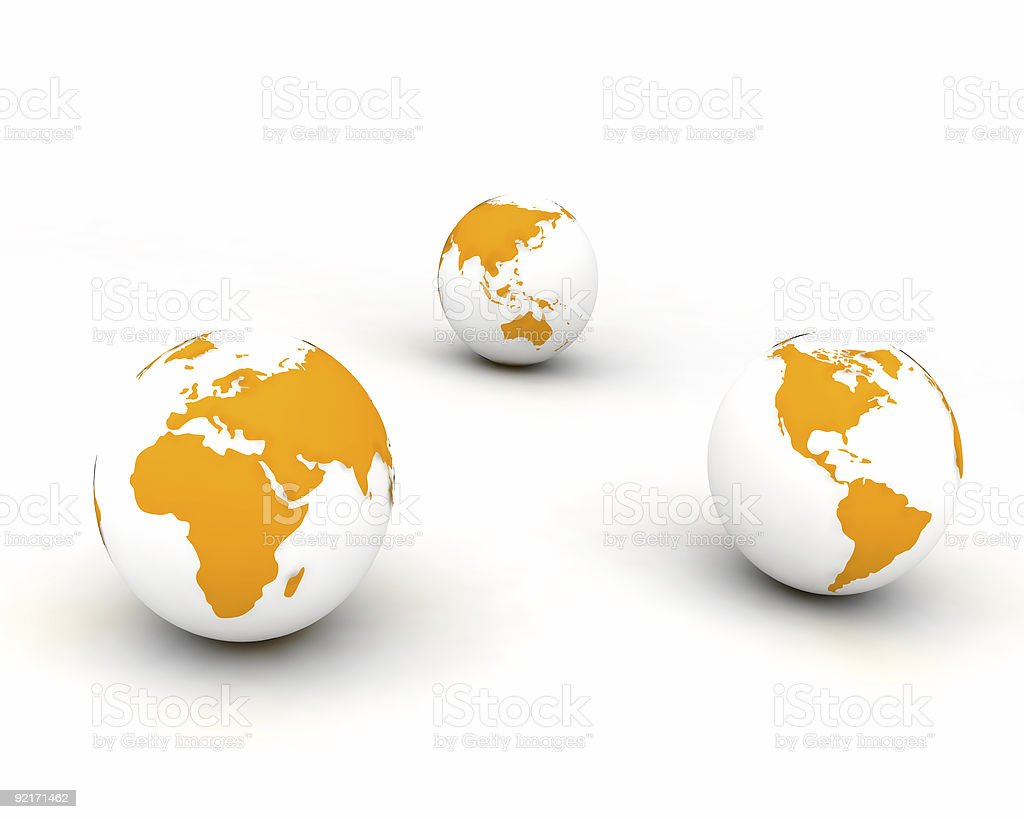 Three worlds all together in perfect harmony and tranquility royalty-free stock photo
