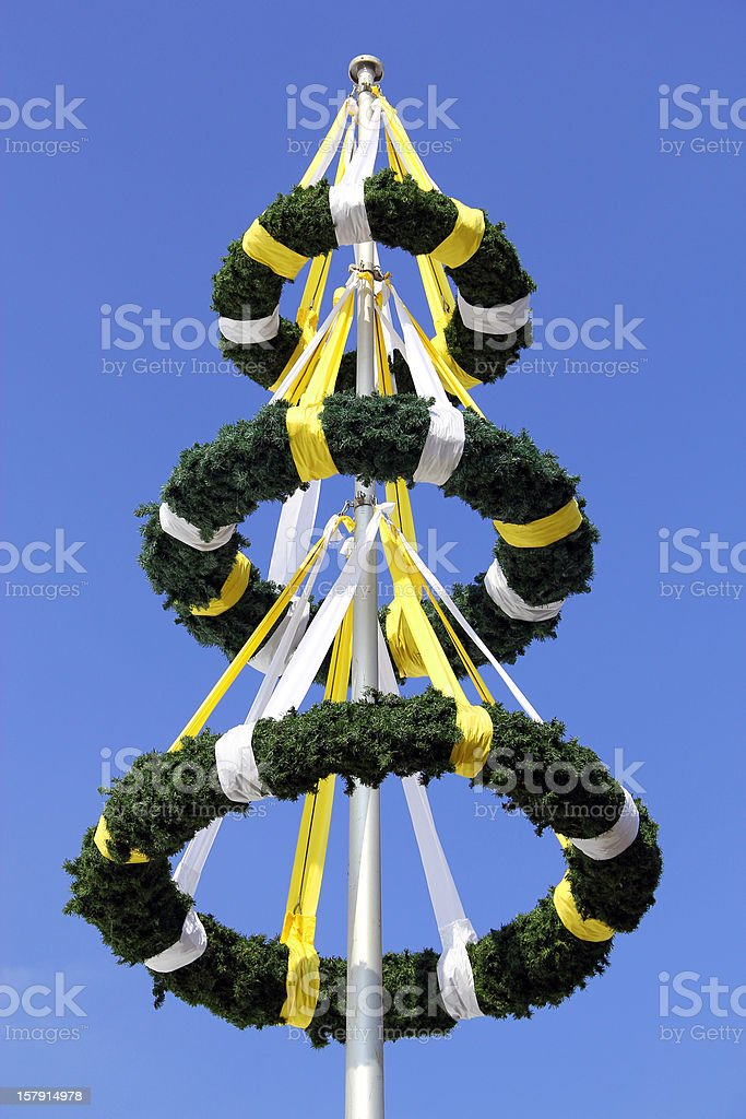 Three wreaths and blue sky in the background. royalty-free stock photo