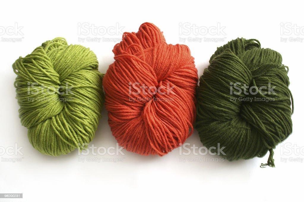 three yarn balls royalty-free stock photo