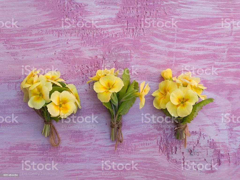 Three Yellow Promrose Flowers Bouquets Stock Photo 531464434 Istock