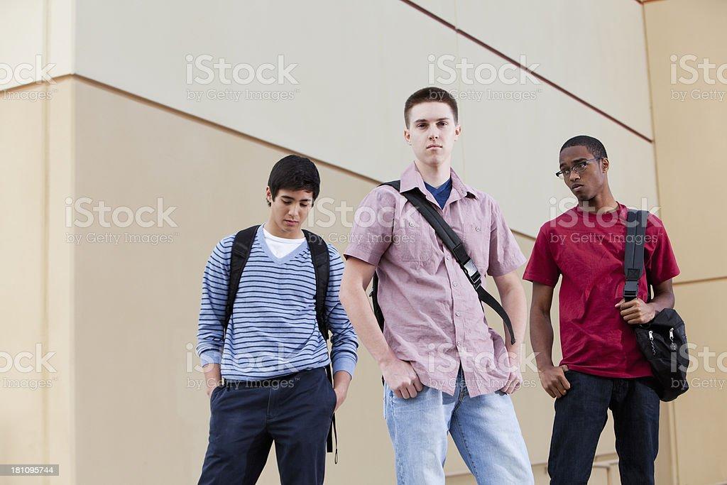 Three young men stock photo
