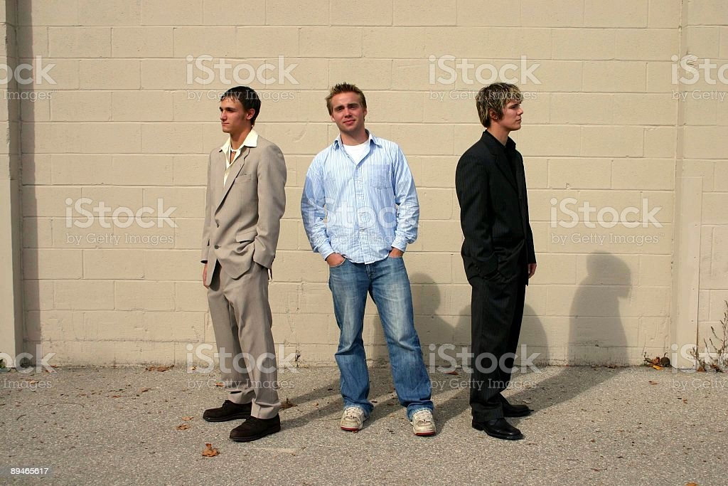 Three Young Men royalty-free stock photo