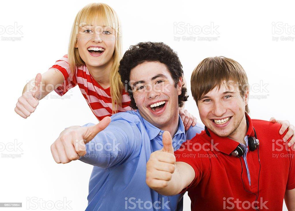 세 명의 젊은 청소년 royalty-free 스톡 사진