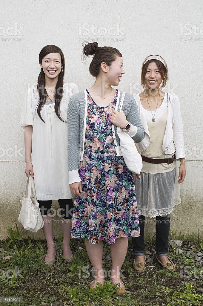 Three young women 免版稅 stock photo