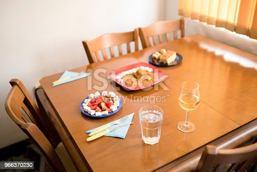 Three-course meal at home. Photo taken in a cozy home atmosphere.