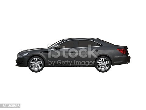 475358758 istock photo Three-dimensional modern black car 854305858