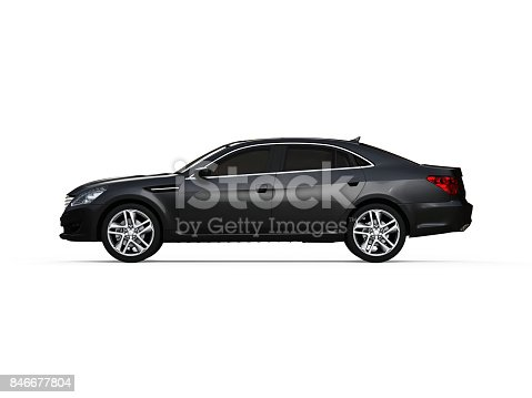 475358758 istock photo Three-dimensional modern gold car 846677804