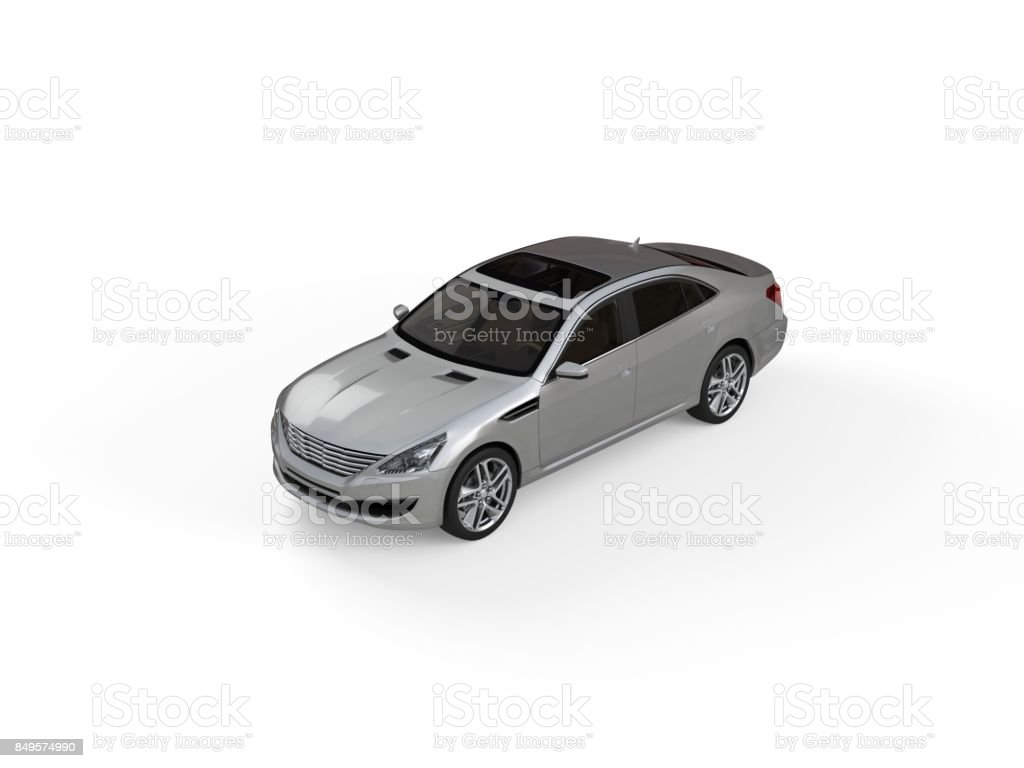 Three-dimensional modern gray car stock photo