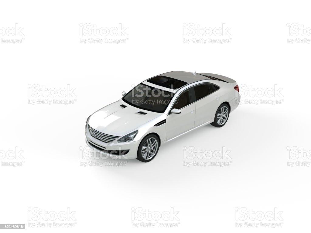 Dreidimensionale modernes weißes Auto – Foto