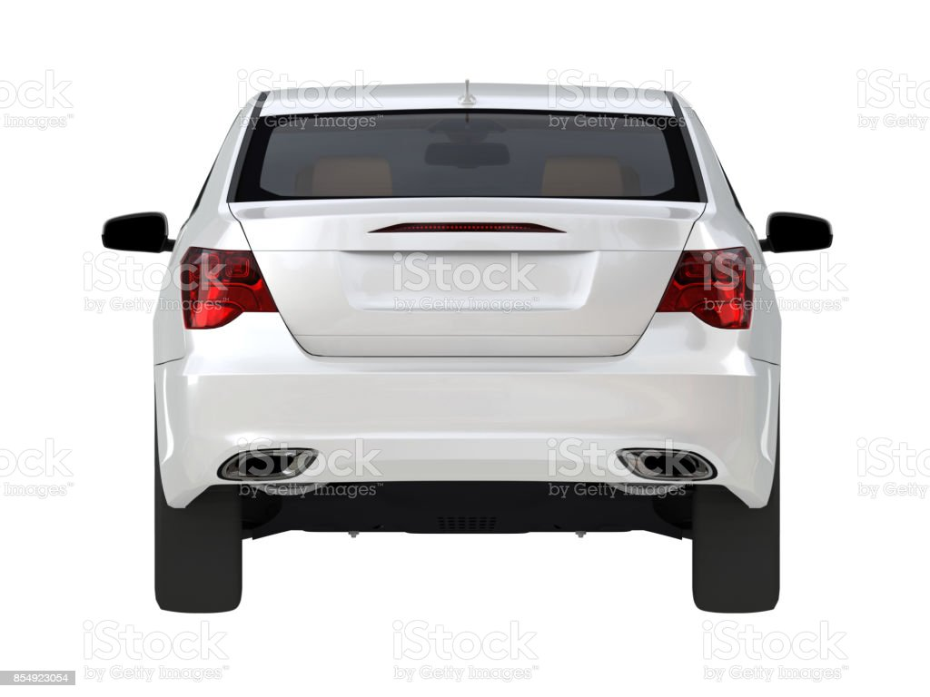 Three-dimensional modern white car stock photo