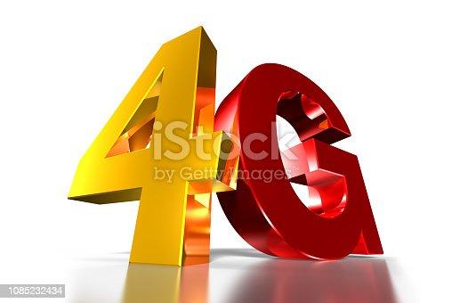 istock 4G Three-dimensional. 1085232434