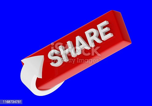 495695633 istock photo three-dimensional share icon with arrow isolated on blue background 1168734751