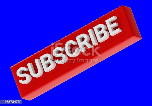 495695633 istock photo three-dimensional subscribe icon isolated on blue background 1168734752