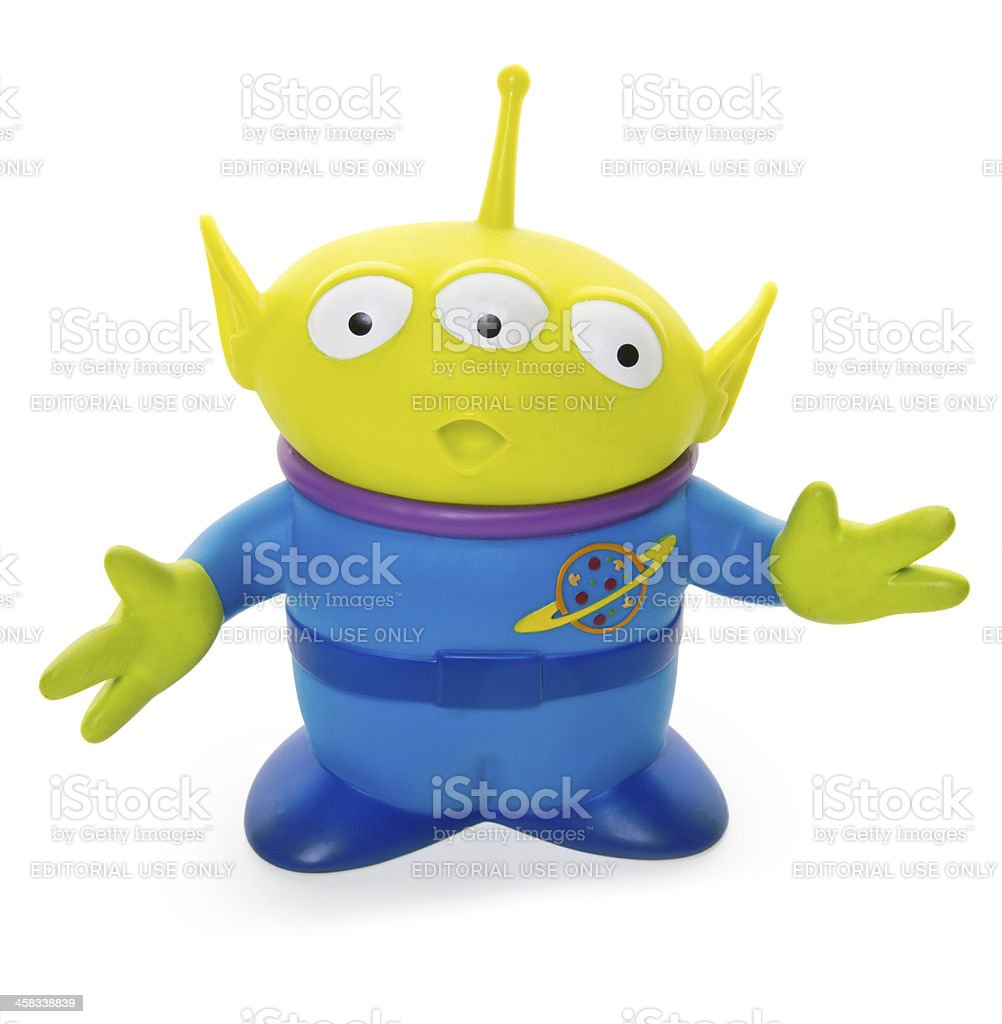 Three-eyed Alien Pal stock photo