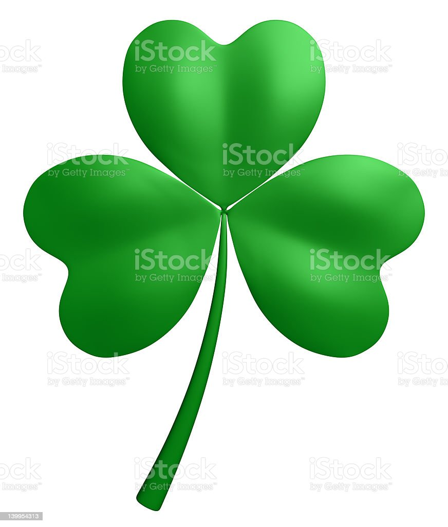 Three-leaf clover stock photo