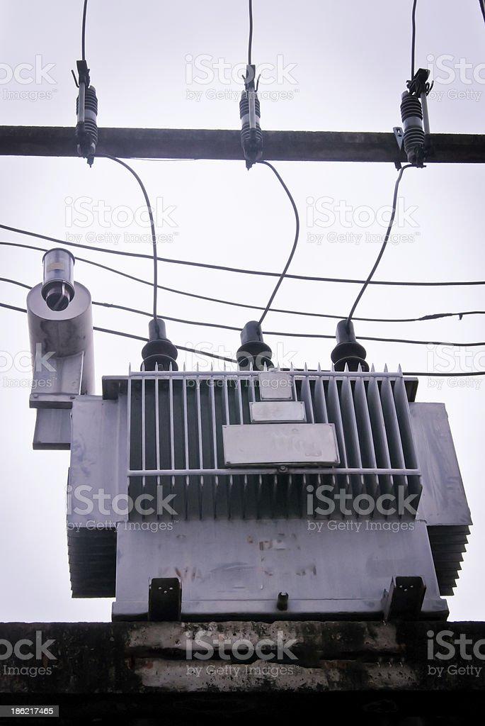 Three-phase 110 KVA transformer in Thailand royalty-free stock photo