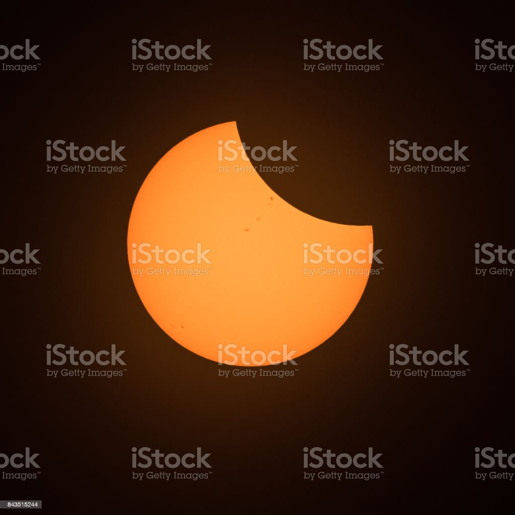 Three-Quarter Sun stock photo