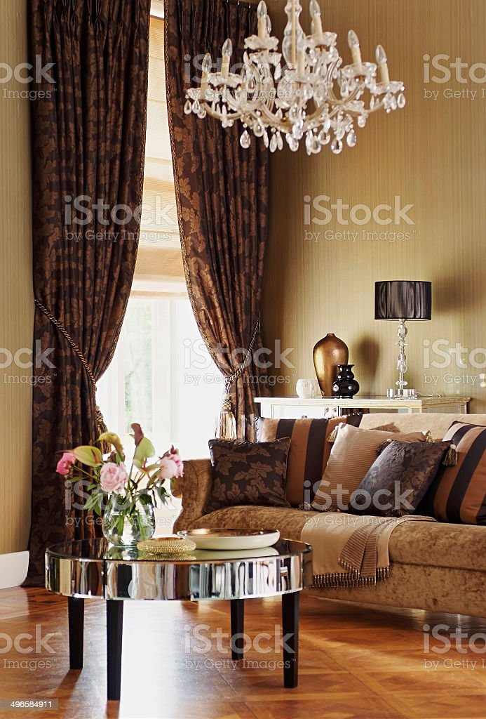 Astounding Threeseat Couch In Ornate Living Room Stock Photo Download Gmtry Best Dining Table And Chair Ideas Images Gmtryco