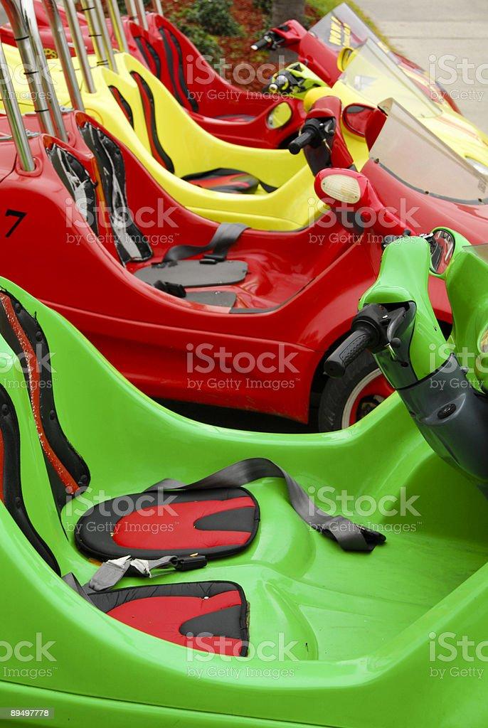 Three-Wheeled Scooter Coupe royaltyfri bildbanksbilder