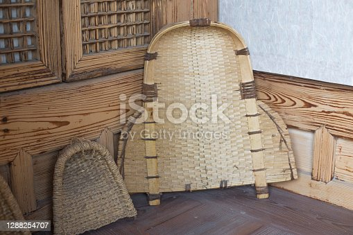 threshing basket or rice winnowing basket in korea