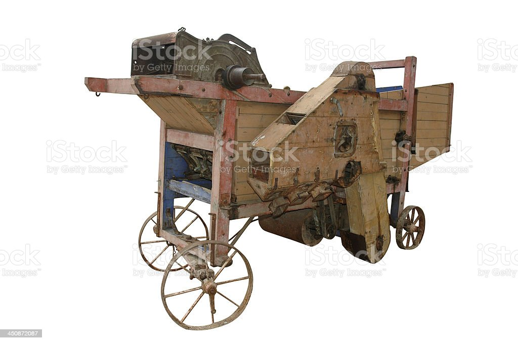 threshing machine stock photo