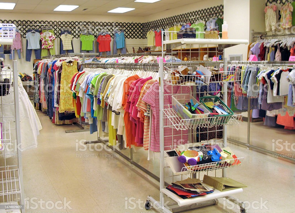 Thrift shop stock photo