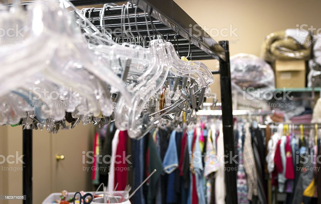 Thrift Shop Sorting Room royalty-free stock photo