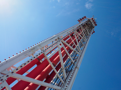 Thrill Ride On Top Of Las Vegas Stratosphere Tower Stockfoto Und