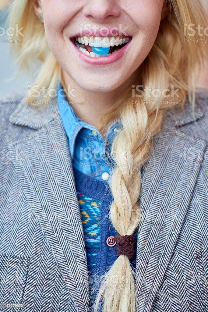 Throat lozenge stock photo