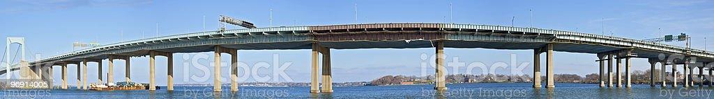 Throgs Neck Bridge Panorama royalty-free stock photo
