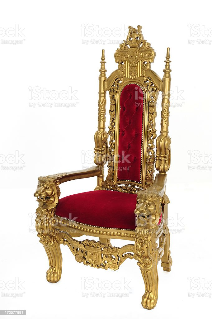 Throne At Angle stock photo