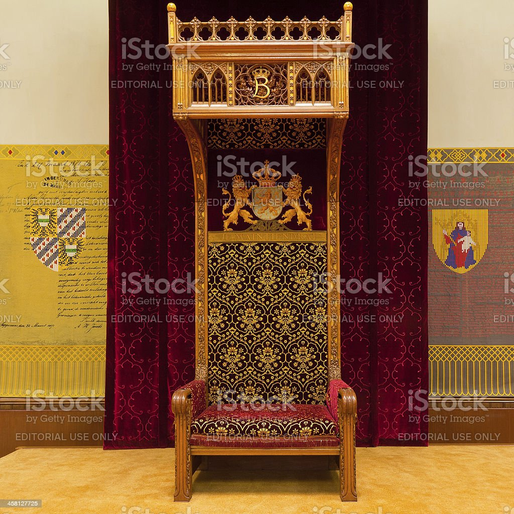 Throne in the Ridderzaal royalty-free stock photo
