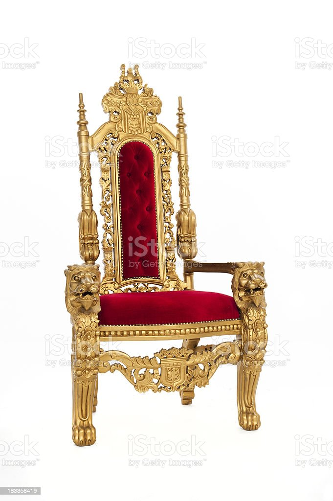 Throne of Gold stock photo