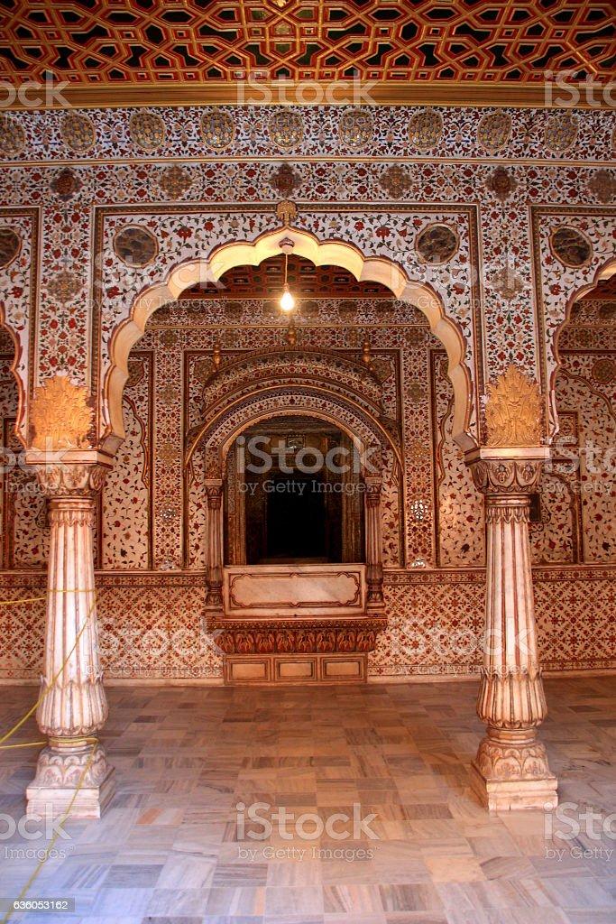 Throne of Kingin Palace Hall stock photo