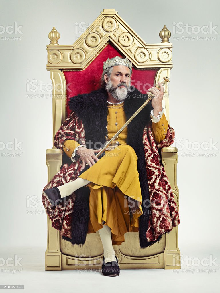 Throne of the kings stock photo