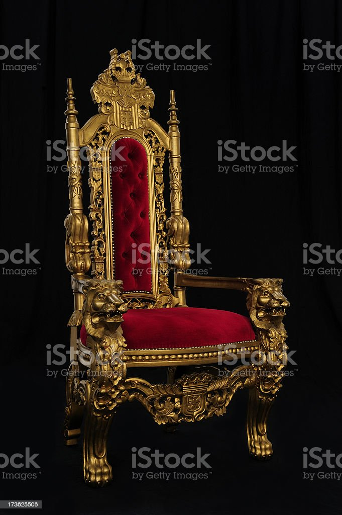 Throne on Black stock photo